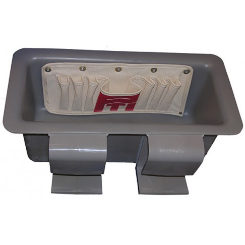 Plastic Tool Tray Standard W Omni Tool Pouch Grey