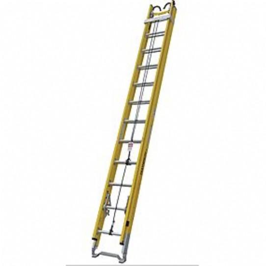 28ft Fiberglass Extension Ladder C W Messenger Hooks