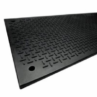 3x8 Versa Mats w/ Cleats On One Side, Versa Tread On The Other Side c/w Hand Holes