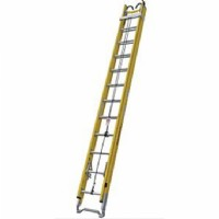 28FT Fiberglass Extension Ladder c/w Messenger Hooks & Pole Strap