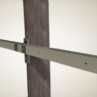 "Heavy Duty Tangent Crossarm, 9.5 foot, 7/8"" holes for 3/4"" hardware"